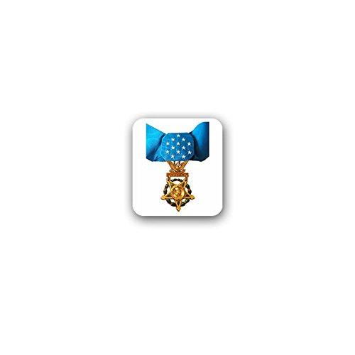Copytec Aufkleber/Sticker -Medal of Honor Army amerikanische Ehrenmedaille Ehre Medaille USA US Streitkräfte Orden Heldenmut Amerika Militär Auszeichnung Verdienst Abzeichen 6x7cm #A3249