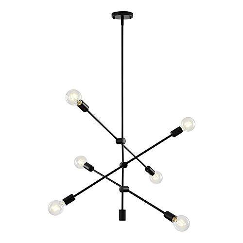 WFZRXFC Líneas modernas nórdicas Sputnik Candelabro Rotación ajustable Lámpara de techo de bricolaje Accesorio de luz de techo simple Mid Century Industrial Chapado vintage Colgante Comedor Cocina Isl