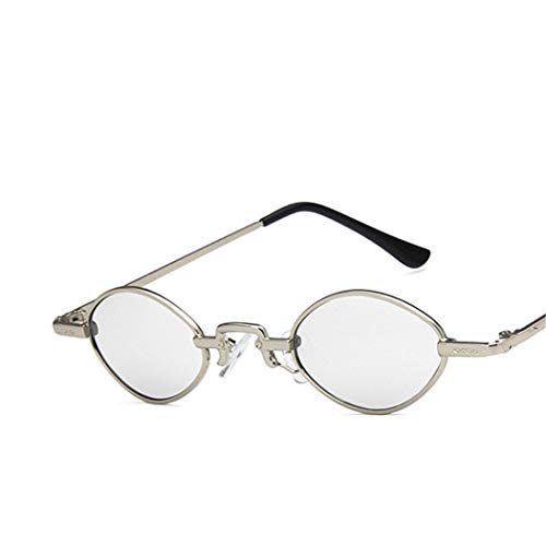 DJDLNK Retro Vrouwen Smalle Zonnebril Oogkleding Spiegel Bril Metalen Frame Kleine Ovale Zonnebril Vrouw Uv400 Rood
