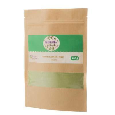 RAÍCES DEL HUERTO - Wheatgrass orgánico certificada USDA - Bolsa de 250 g - Fuente de clorofila, aminoácidos, minerales, vitaminas y enzimas - Ideal para veganos, vegetarianos y atletas '