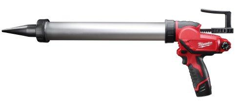 Milwaukee M12 M12 PCG/600A-151B 600ml Caulking Gun Aluminum Tube with 1.5Ah Li-Ion Battery