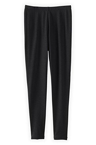 Fair Indigo Fair Trade Organic Cotton Ankle Length Leggings (L, Black)