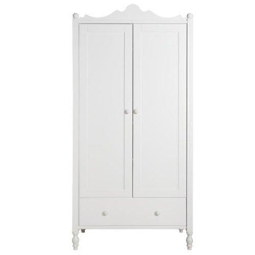 Bopita Belle Kleiderschrank   zweitürig   weiß   B 104 x T 61 x H 212cm