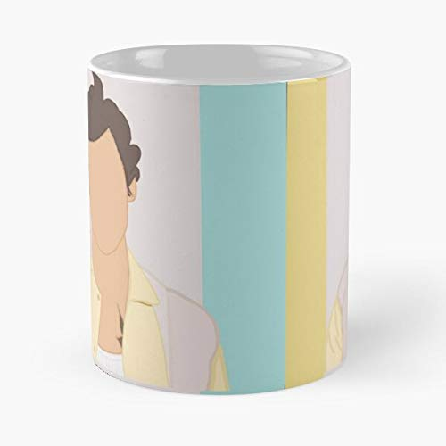 GrimDC Harry Yellow Direction One 1D Styles Hary Blue Taza de café con Leche 11 oz