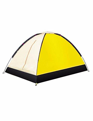 SJQKA-tente l'extérieur, 2 personne imperméables, double, le camping couple, lumière beach, intérieur tente pour enfants,le jaune