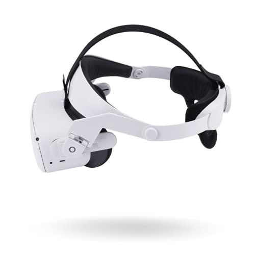 Oculus Quest 2 Elite ストラップ、 調整可能なOculus Quest 2 ストラップ vrゴーグル ギアを調整する VRヘッドバンド-フォームクッションヘッドバンドは、重力のバランスを取り、頭の圧迫を緩和し、サポートと快適さを向上させます2021最新型