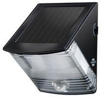 Brennenstuhl LED Solarlampe mit Bewegungsmelder / Außenleuchten mit integriertem Solarpanel und Infrarot Bewegungssensor, schwarz