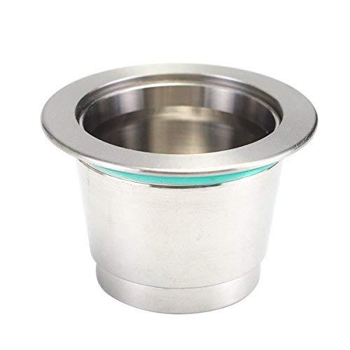 NOBRAND Cápsula de cápsula Recargable de Metal súper Fino para cafetera Illy Coffee...