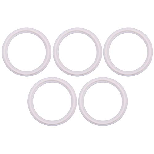 Teflon (PTFE) Tri-Clamp Gasket -Tri Clover O-Ring- 2 inch, Fits to OD 64MM Sanitary Pipe Weld Ferrule (Pack of 5)