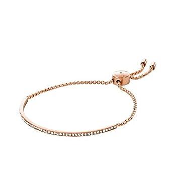 Michael Kors Pave Bar Slider Rose Gold Bracelet