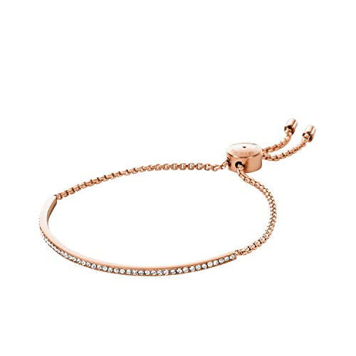 Michael Kors Pave Bar Slider Rose Gold Bracelet