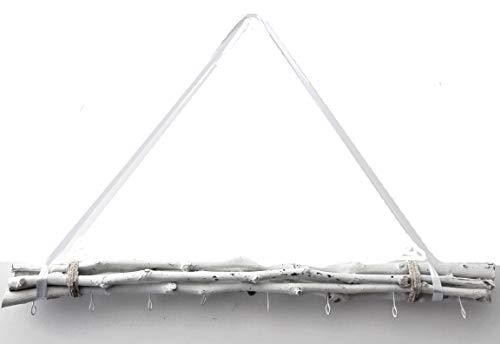 Cepewa Bada Bing Weidenzweige WEIß gebunden 8 Haken zum Aufhängen 80 cm Naturprodukt Dekobündel Wanddeko zum hängen 95