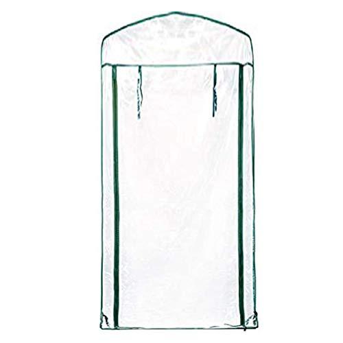 Gewächshausabdeckung, Mini Gewächshaus Abdeckung - 4/5-Schicht Transparent Wasserdichtes PVC Gewächshaus Ersatzabdeckung Gartenarbeit Anlage Ohne Gewächshausrahmen