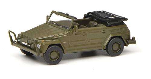Schuco 452642900 VW 181 BW, offen 1:87 452642900-VW, Modellauto, Modellfahrzeug, Olive