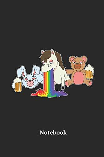 Notebook: Liniertes Notizbuch für Regenbogen, Party und Junggesellen abschied Fans - Notizheft Klatte für Männer, Frauen und Kinder