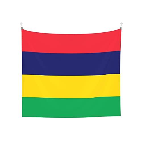 Wandteppich, Motiv: Flagge von Mauritius, Wandbehang, Boho, beliebt, mystisch, Trippy, Yoga, Hippie, Wandteppiche für Wohnzimmer, Schlafzimmer, Wohnheim, Heimdekoration, Schwarz & Weiß