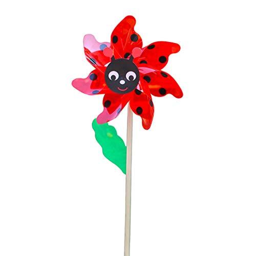 VIccoo Wind Spinner, Holzbiene Windmühle Wind Spinner Windräder Hausgarten Hof Dekoration Kinderspielzeug - 1