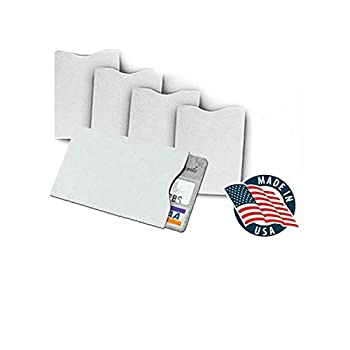 10x RFID Blocking Credit Card DuPont TYVEK  Sleeves for wallet or purse Protect your debit cards credit cards and IDs from identity theft skiming.