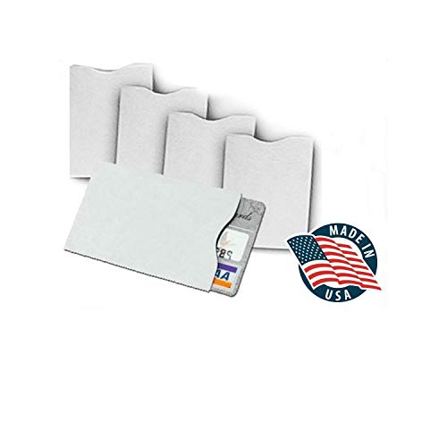 """10x RFID Blocking Credit Card""""DuPont TYVEK"""" Sleeves for wallet or purse. Protect your debit cards, credit cards and IDs from identity theft skiming."""