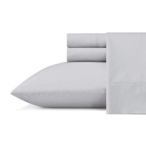 Vera Wang| Organic Collection| Bed Sheet Set - 100% Pure Cotton Bedding, All-Natural Lightweight Fabrics and Cool, King, Grey (USHSA01159874)