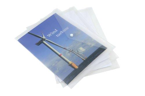 Rapesco ECO 1042 Dokumentenmappe DIN A3 (5 pro Packung) farblos