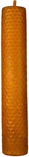Candle Art Vela DE Miel, Amor Y Retorno del SER Amado - Velón RITUALIZADO - Vela preparada para Rituales - Cera de Abeja 100% con Plantas - Alto: 20 cm x Diám.: 3,6 cm