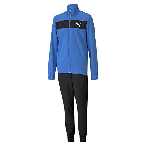PUMA Jungen Poly Suit cl B Trainingsanzug, Palace Blue, 140
