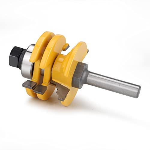 Gehrung Verleimfräser 8mm Oberfräse Lock Miter Router bit Abrichtfräser Holzbearbeitung Fräser Schneidwerkzeug für DIY CNC Graviermaschine,Fenster & Türen, Graviermaschine Trimmmaschine