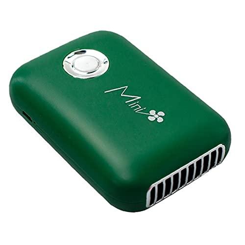 Nicedier De Mano Mini Ventilador de pestañas Ventilador portátil 400mAh Recargable sin Hojas Verdes del Ventilador del Ventilador de refrigeración