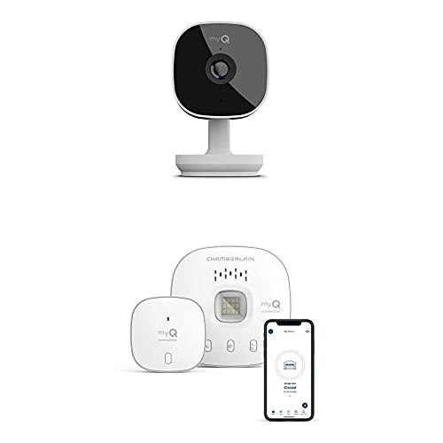MyQ MYQ-SGC1WCH Camera Smart Garage Cam, White with myQ Chamberlain Smart Garage Door Opener