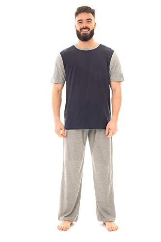 Sock Stack Conjunto de pijama largo para hombre de algodón pijama de ropa de salón camiseta pantalones de pijama