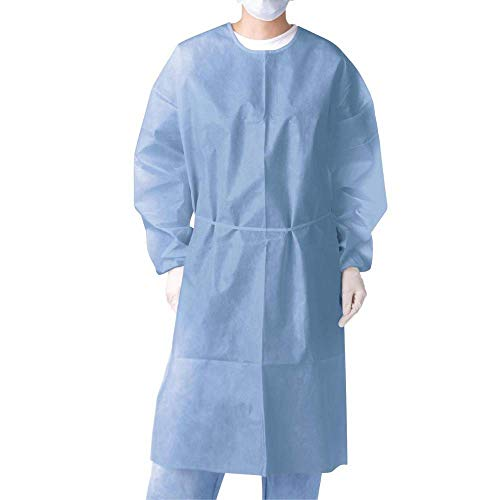Medlink Disposable Polypropylene Isolation Gown, Non-Woven Gown Pack of 10 Gowns