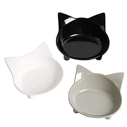 Ciotola per gatti Ciotole per cibo per gatti Ciotole per cani antiscivolo Ciotole per alimenti per animali domestici Ciotole per gatti poco profonde Alimentazione per gatti Ciotole larghe (A)