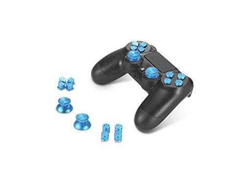 Supremery Playstation 4 DualShock 4 pulsanti in alluminio Cappelli Thumbsticks ricambio Accessori per PS4 (proiettile blu)