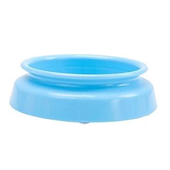 Chiens Gamelles et distributeurs Bol d'alimentation d'animal familier de résine de PP Bassin d'abreuvoir de Chien de cuve de Riz de Bol de Chien de résine Chiens Gamelles (Color : Blue)