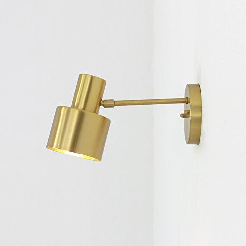 Brass lamp wastafel spiegel, minimalistisch, matte industriële wandlampen indoor lamp hoofdeinde instelbaar