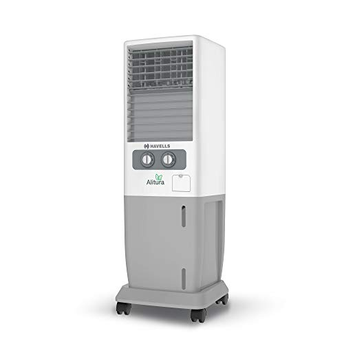Havells Alitura Tower Air Cooler - 20 litres (White, Grey)