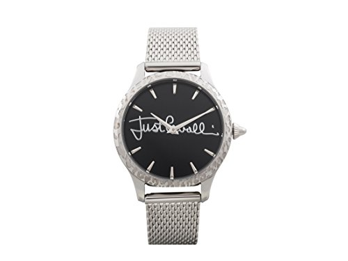 Just Cavalli Damen Datum klassisch Quarz Uhr mit Edelstahl Armband JC1L023M0075