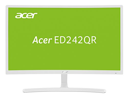 Acer ED242QR 23.6-inch FHD Curved Monitor (VA panel, FreeSync, 4ms, HDMI, VGA), White