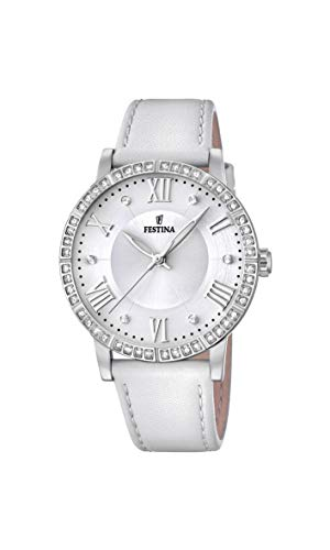Festina Damen Analog Quarz Smart Watch Armbanduhr mit Leder Armband F20412/1
