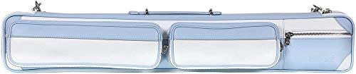 Fodero Longoni Giotto, Dolcevita 4C, 8P Bianco\Azzurro per stecche da biliardo