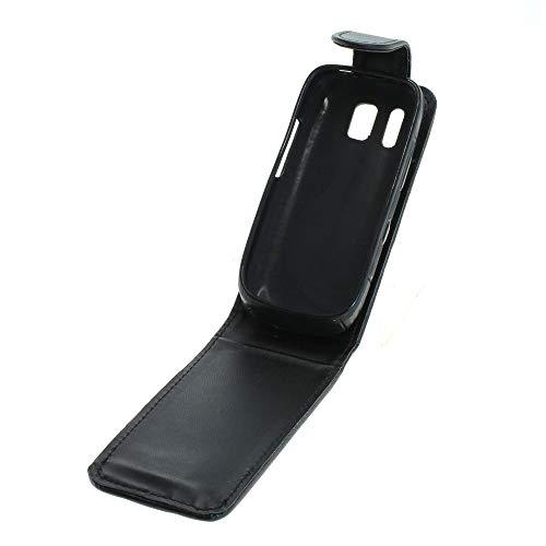 Mobilfunk Krause - Flip Hülle Etui Handytasche Tasche Hülle für Nokia Asha 203 (Schwarz)