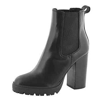 Steve Madden Women s Jerry Slip On Chelsea Boot Black 8 Medium US