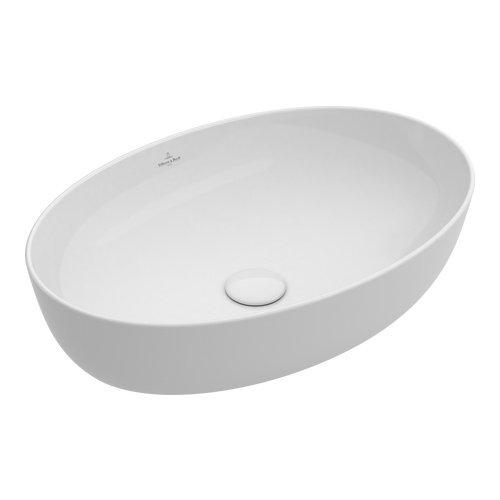 Villeroy & Boch Aufsatzwaschbecken Artis weiß mit CeramicPlus Beschichtung 419861R1