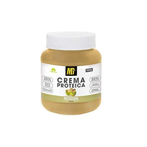 MG Food Supplement - Crema Proteica Spalmabile al Pistacchio - Con il 25% di Proteine del Siero Del Latte Senza Zuccheri , Senza Olio di Palma e Senza