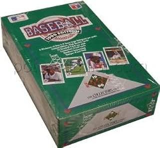 1990 Upper Deck Baseball Cards Box of 36 Foil Packs