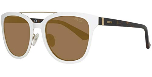 Guess Sonnenbrille GU7448 5221G Gafas de sol, Blanco (Weiß), 52 para Mujer