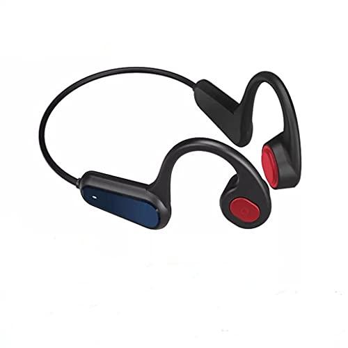 Auriculares De Conducción Ósea Auriculares Inalámbricos Bluetooth 5.0 Auriculares De Oreja Abierta, Auriculares Deportivos A9 con Micrófono A Prueba De Sudor, Liviano Y Conveniente, Negro, Rojo,Rojo
