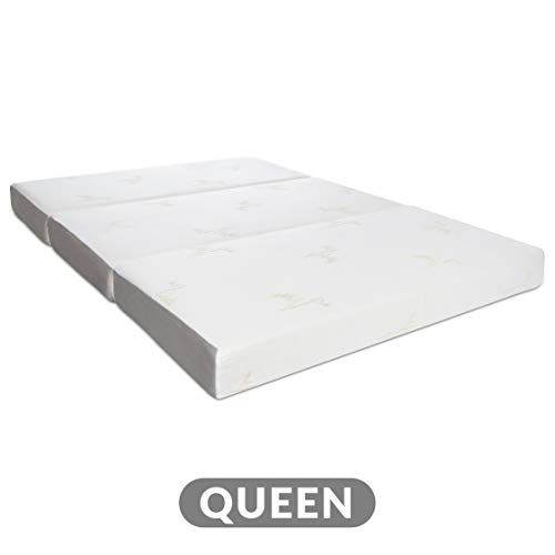 Milliard Tri Folding Memory Foam Mattress with Washable Cover Queen (78 inches x 58 inches x 6 inches)