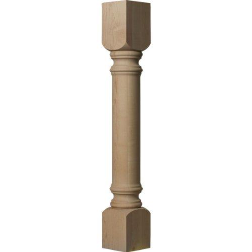 Ekena Millwork COL05X05X35TRRW 5-Inch W x 5-Inch D x 35 1/2-Inch H Traditional Cabinet Column, Rubberwood
